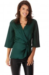 Bluza Dark Green Satin