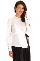 Bluza White Satine