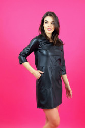 Rochie Black Leather
