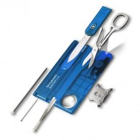 Multifunctional Victorinox SwissCard Lite, albastru transparent - 0.7322.T2