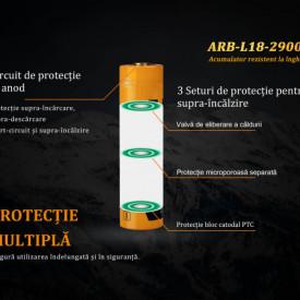 Acumulator 18650 - 2900mAh - ARB-L 18-2900L 3