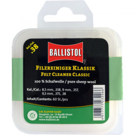 Ballistol Cutie pelete lana pentru curatat teava CAL 338/9,3X62/375 60BUC - VK.23214