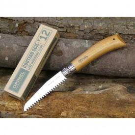Briceag Opinel Fierastrau Nr.12 Inox Fag, lama 12cm - 165126