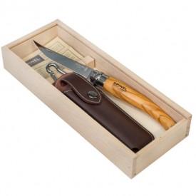 Briceag Opinel Nr.10 Slim Inox Maslin + Teaca, 10cm - 001090