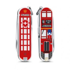 Briceag Victorinox Classic A Trip To London - 0.6223.L1808 - Limited Edition 2018 fata spate