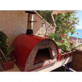Cuptor traditional pentru pizza pe lemne Maximus rosu - MAXIMUSRED 4