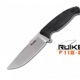 Cutit de outdoor Ruike F118 maner negru - Lama 11cm
