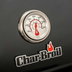 Gratar pe gaz din inox Char-Broil Professional 4500 Black Edition TRU-Infrared - 140909 termometru