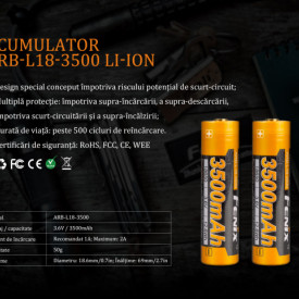 Kit Incarcator Fenix ARE-X11 + Acumulator 18650 3500mAh 6