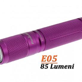 Lanterna Fenix E05 85 lumeni violet