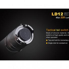 Lanterna Fenix LD12 - Editie 2017 - 320 Lumeni - 135 Metri buton tactic