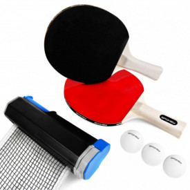 Set tenis de masa cu palete, fileu, mingi Spokey Roll Joy - OUTMA.928663