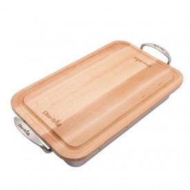 Tava din inox cu tocator de lemn Char-Broil - 140014