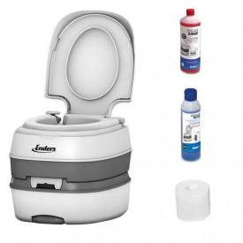 Toaleta portabila Enders Deluxe Starter-Set 15 litri include solutii de curatare - 4940