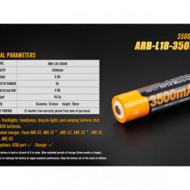Acumulator 18650 - 3500mAh cu Micro USB - ARB-L 18-3500U 8