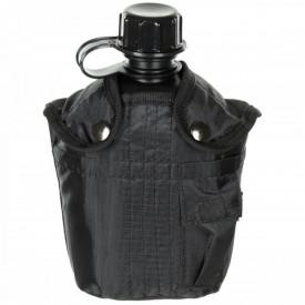 Bidon 1 litru cu husa neagra, BPA free, MFH - OUTMA.33213A