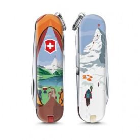 Briceag Victorinox Classic Call of Switzerland - 0.6223.L1802 - Limited Edition 2018 fata spate