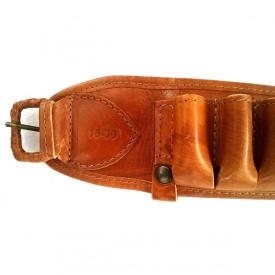 Cartusiera Nobil Hunt piele maro cu 30 posturi cal 16 - VE.NP1630