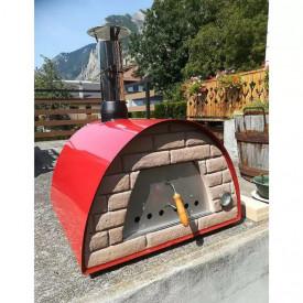 Cuptor traditional pentru pizza pe lemne Maximus rosu - MAXIMUSRED 3