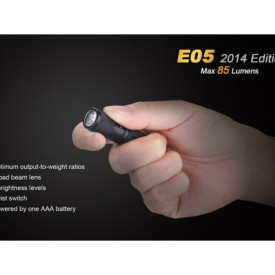 Lanterna Fenix E05 85 lumeni proportii