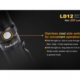 Lanterna Fenix LD12 - Editie 2017 - 320 Lumeni - 135 Metri constructie