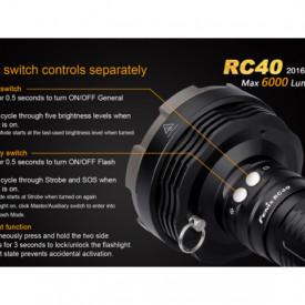 Lanterna Fenix RC40 - 6000 Lumeni - 730 Metri - Editie 2016 4