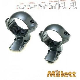 Set inele Bushnell Millet 30mm - medie- EXT.OT.M D=30