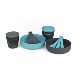Set vase camping 2 persoane Sea To Summit Delta Light Camp Set 2.2 Pacific Blue / Grey - OUTMA.ADLTSET2.2