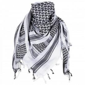 Shemagh negru alb esarfa arab, 115 x 110 cm, 100% bumbac MFH - OUTMA.16503A