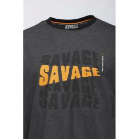 Tricou Savage Gear Simply Logo Tee maneca lunga