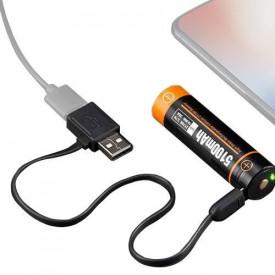 Acumulator cu port Micro-USB pentru lanterna D20 Acebeam