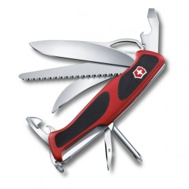 Briceag Victorinox RangerGrip 58 Hunter One Hand, negru/rosu - 0.9683.MC