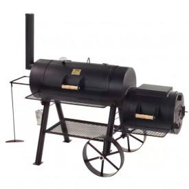 """Gratar pe carbuni cu afumatoare JOE's Barbeque Smoker 16"""" Longhorn - JS-33950"""