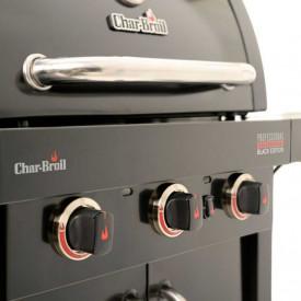 Gratar pe gaz din inox Char-Broil Professional 3500 Black Edition TRU-Infrared - 140899  butoane