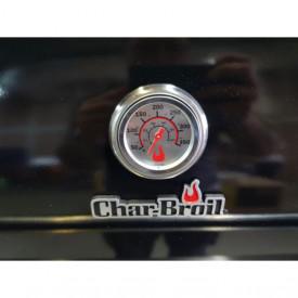 Gratar pe gaz din inox Char-Broil Professional 4400B - 140737 termometru