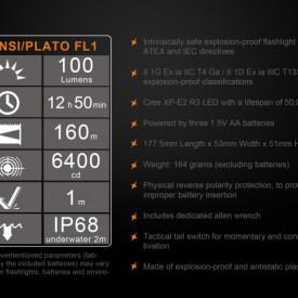 Lanterna Fenix SE10 - Lanterna ATEX - 100 lumeni 160 metri 7