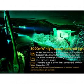 Lanterna Fenix TK25 Versiune Infra-Rosu 1000 Lumeni 225 metri infra rosu