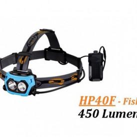 Lanterna frontala Fenix HP40F Pescuit 450 lumeni 110 metri