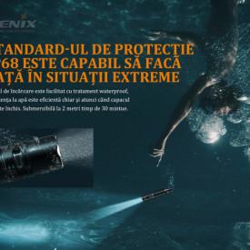 Lanterna Tactica Fenix PD36R 1600 Lumeni 283 Metri IPX