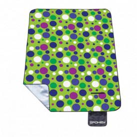 Patura pentru picnic captusita cu aluminiu Spokey Circles 180 x 210 cm - OUTMA.832827