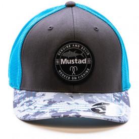 Sapca Mustad Flexfit Gri/Albastru - A8.MCAP07.GC