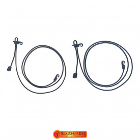 Set cordeline elastice de tensionare Bushmen Black - 5902194521345
