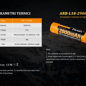 Acumulator 18650 - 2900mAh - ARB-L 18-2900L 5