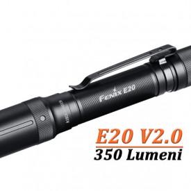 Lanterna Fenix E20 V2.0 350 Lumeni 126 Metri