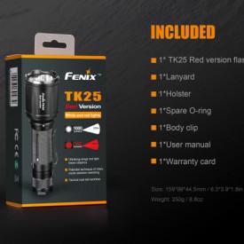 Lanterna Fenix TK25 - Versiune Red - 1000 Lumeni 225 Metri cutie