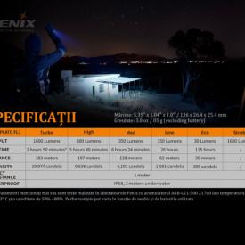 Lanterna Tactica Fenix PD36R 1600 Lumeni 283 Metri caracteristici