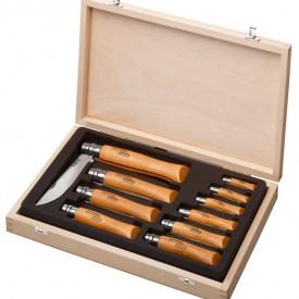 Set Opinel 10 cutite Carbon, manere fag - 183104