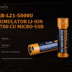 Acumulator 21700 - 5000mAh - Acumulator USB Type-C - ARB-L 21-5000U 2