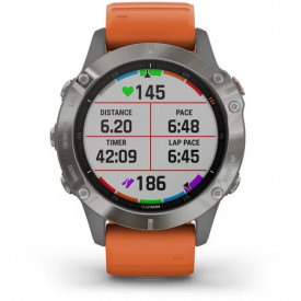 Ceas Garmin Fenix 6 Sapphire Titan/Orange 47mm - HG.010.02158.14 grafic antrenament