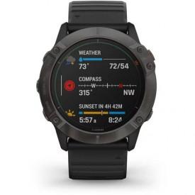 Ceas Garmin Fenix 6X Pro Solar Carbon/Black 51mm - HG.010.02157.21 compass